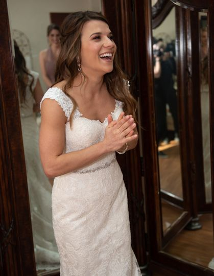 Delighted bride