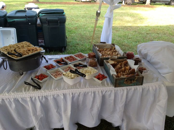 Buffet table set-up