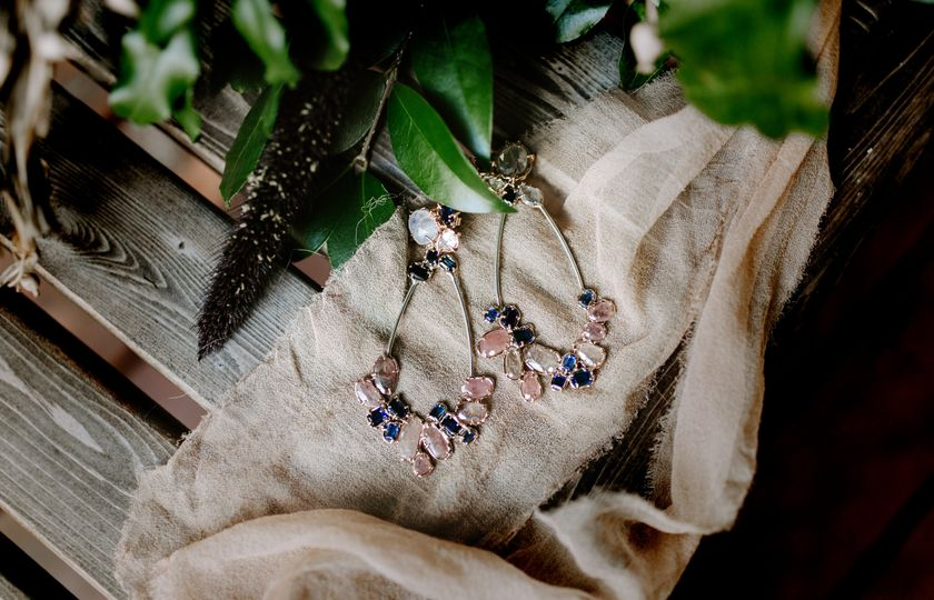 Ooak bridal earrings