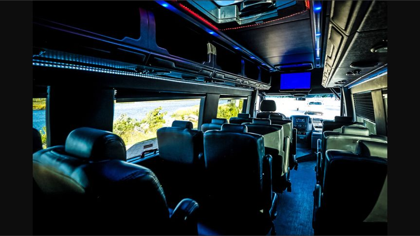 Lux limo sprinter interior