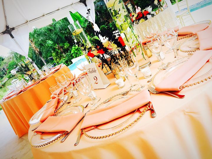 Tables for guests