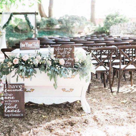 crossback chair wedding