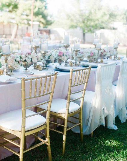 gold chiavari wedding