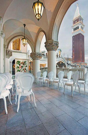 white palazzo venetian wedding