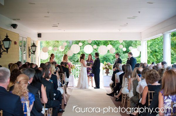 Beautiful ceremonies take place on our covered terrace