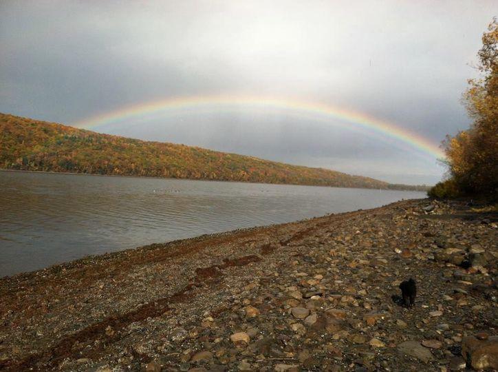 Classic Rainbow on Hemlock Lak