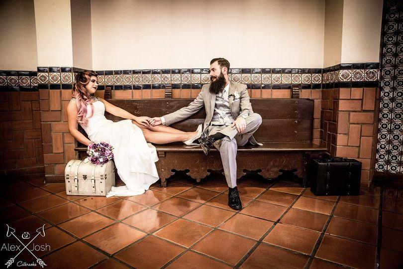 Classic Pinup Bridal Photo by Los Angeles Wedding Photographer Alex Diaz and Josh Ponder