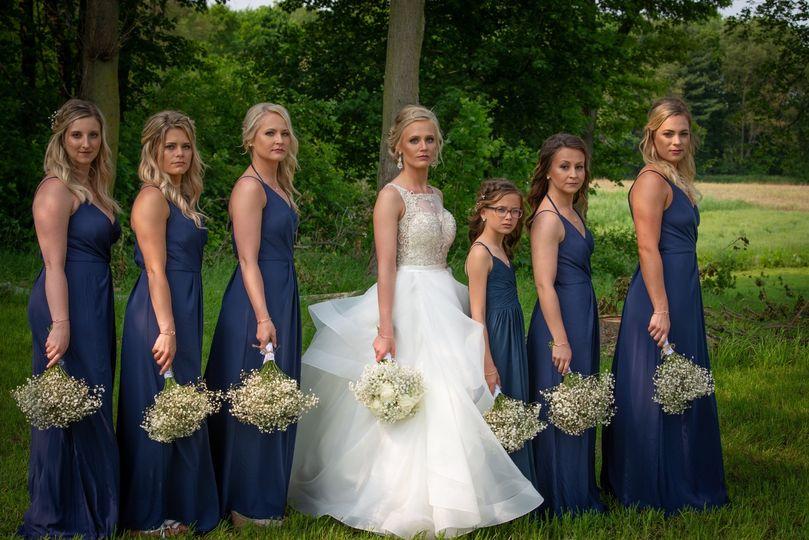 Bride with her crew
