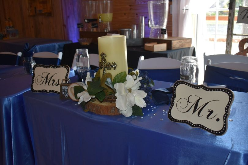 Sweetheart table nameplates