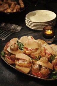 Meatball Sliders/ Chicken Parmesan Sliders