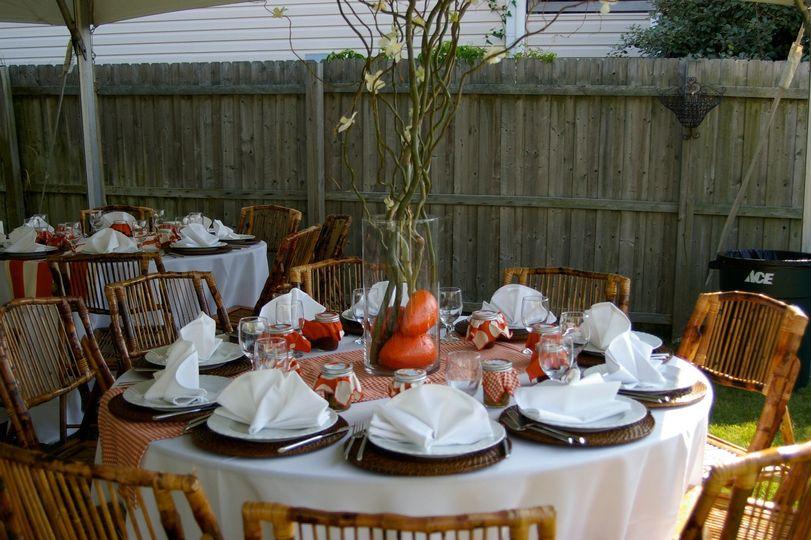 Fall wedding set up