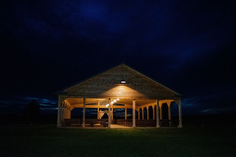 Ceremony pavilion at dark
