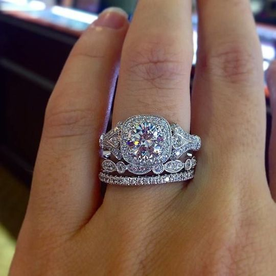Come see our collection of vintage style engagement rings, featuring Gabriel and Company.