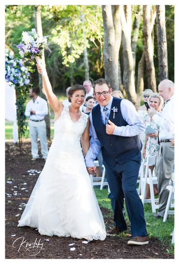 That moment.... Married!