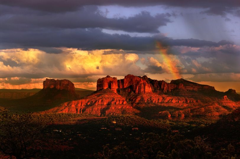 bigstock beautiful rainbow in sedona ar 27336371