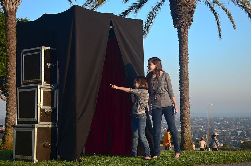photo booth enclosed canopy