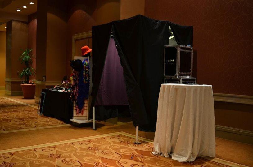photo booth full setup