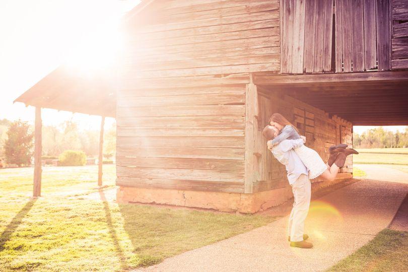 Brandi & Daniel celebrate their engagement in a rustic barn setting