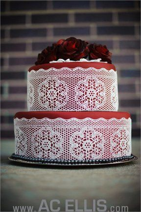 White sugar lace cake - pictures by AC Ellis