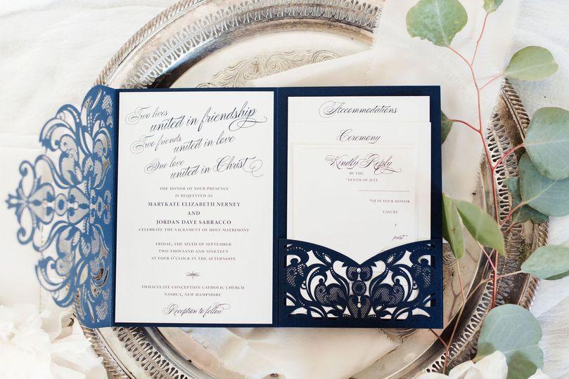 Laser Cut Wedding Invitation