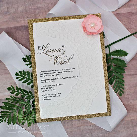 Amoure rose invite
