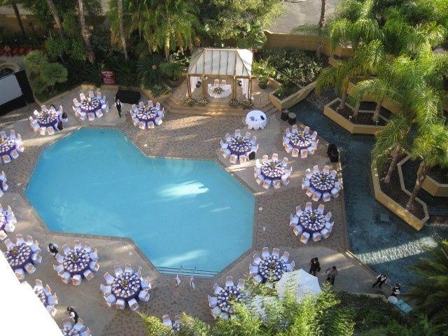 poolside receptionii
