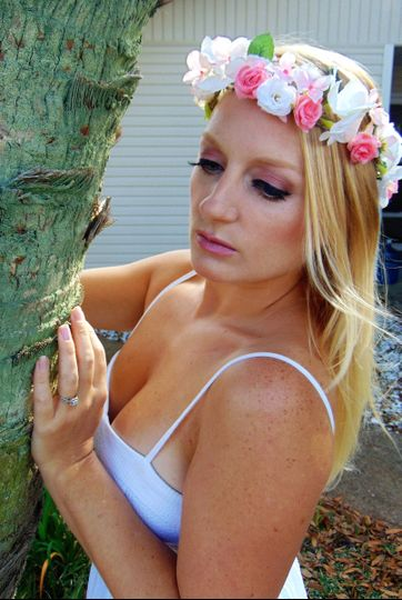 Bride and flower headband