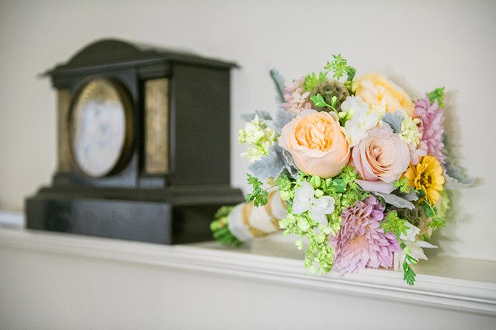 Orange and pink arrangement