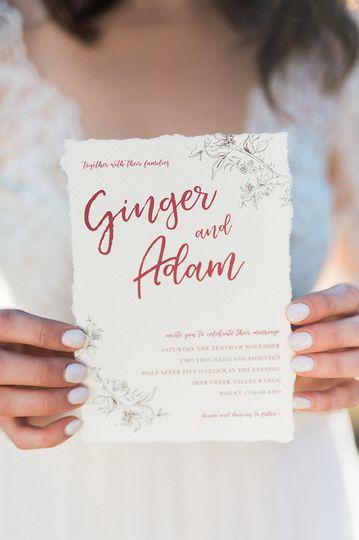 romantic wedding invitation colorado designs by sa