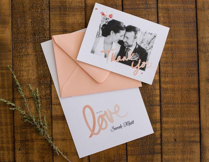 custom thank you cards colorado designs by sarah