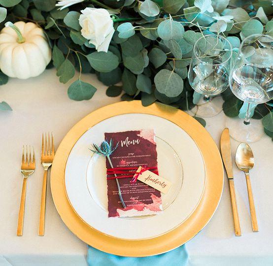 custom wedding menus colorado designs by sarah