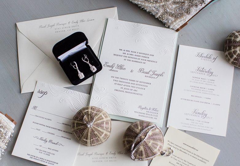 letterpress wedding invitation colorado designs by