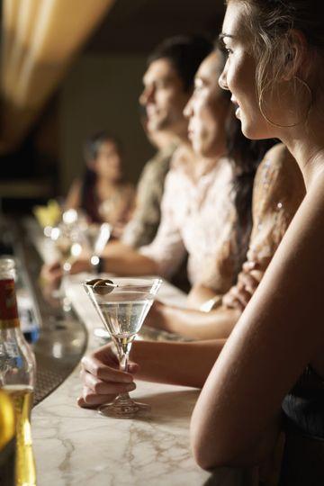 Enjoying a Martini