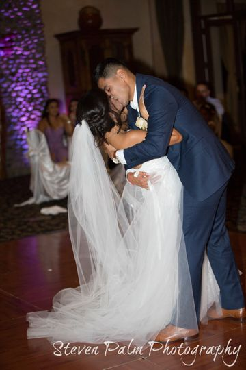 First Dance with a Dip & Kiss