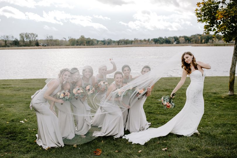 Creative bridal party shot