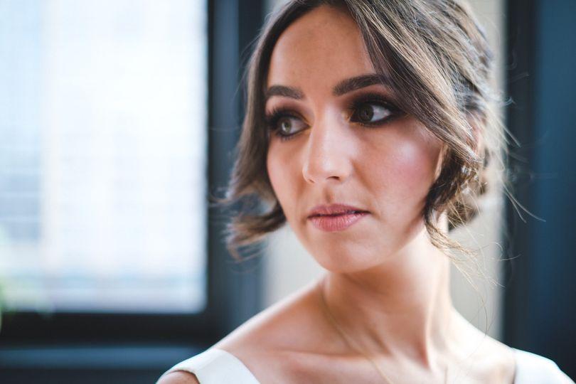 Bronze/gold bridal makeup