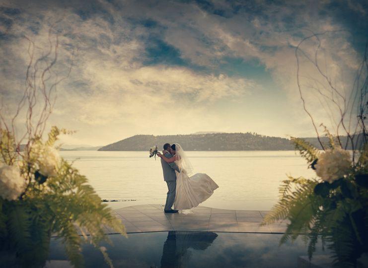 Couple beside the beach