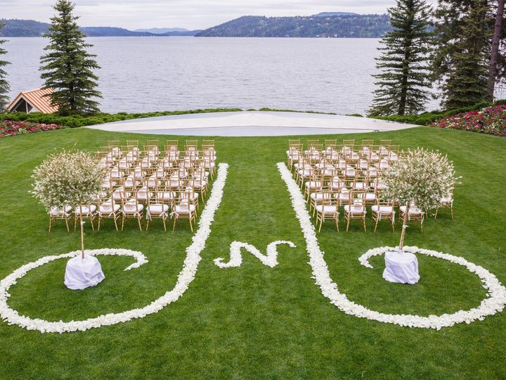 Tmx Hec Wedding Ceremony Gold Chiavari With Flower Aisle N 51 105229 158697978441193 Coeur D Alene, ID wedding venue