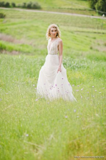 Bride in the field | One Love Photography