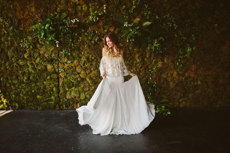 The Bride and The Moss Wall