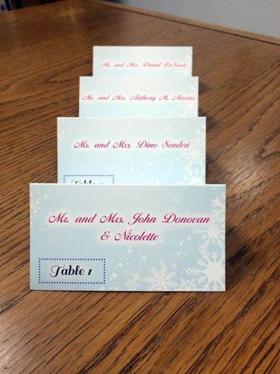 Kids party place cards