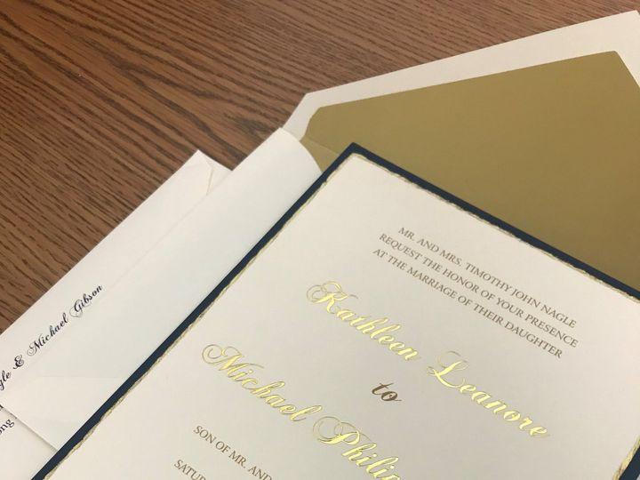 Tmx Gold 3 51 1096229 159605026029236 Bronx, NY wedding invitation