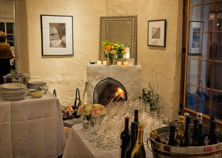 A cozy November dinner at the gallery