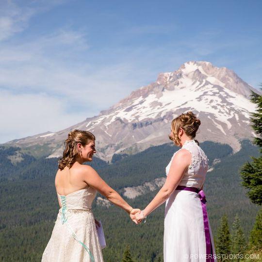 A Mount Hood backdrop