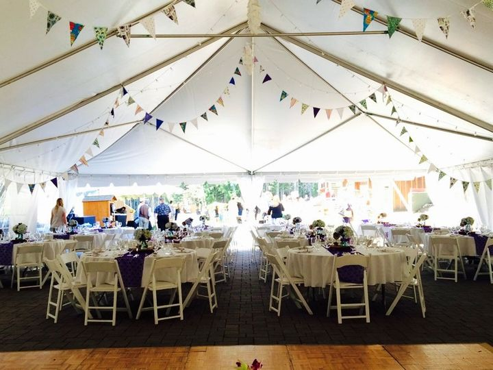 Tmx 1428338779056 2014 Reception Tent Flags Government Camp, OR wedding venue