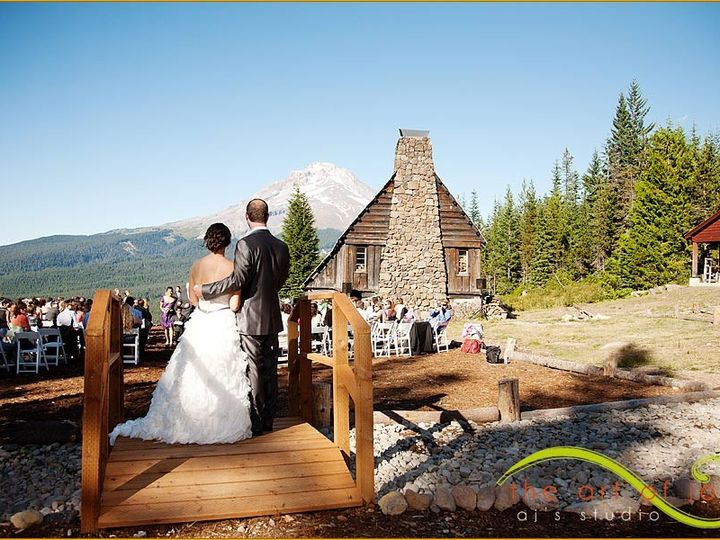 Tmx 1428338789081 Bride  Groom On Bridge Government Camp, OR wedding venue