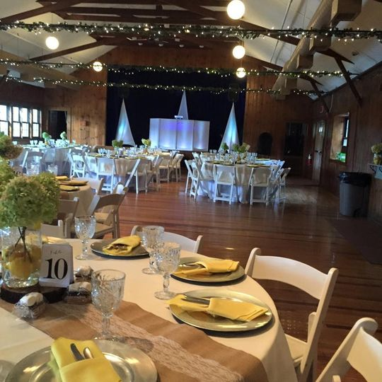 Wedding tablesetup