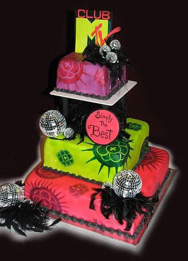 Colorful layered cake