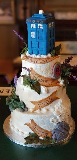 """""""Geek"""" Wedding Cake"""