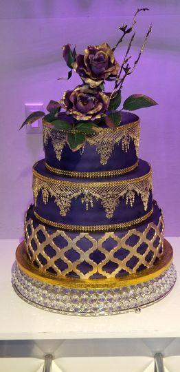 Purple & Gold Birthday Cake